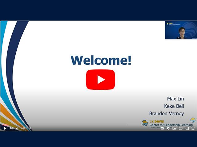 CLL Info Session Welcome Screen
